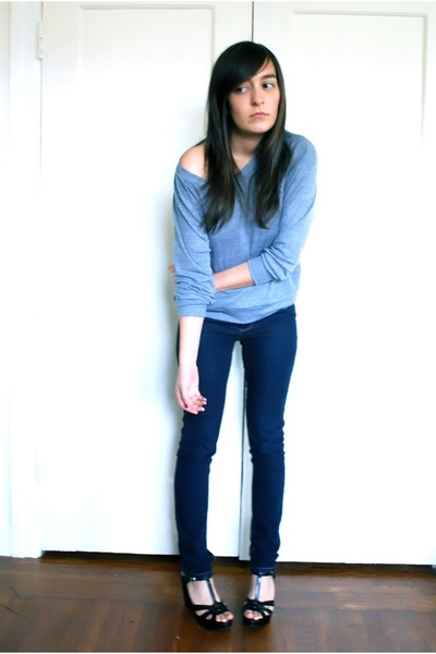 American Apparel sweater - Cheap Monday jeans - Star Ling shoes