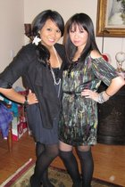 black H&M jacket - gray Forever 21 dress - black Target tights - green No label