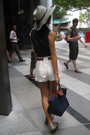 Blue-f21-vest-gray-charles-keith-shoes-blue-long-champ-accessories