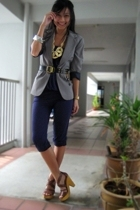 brown Steve Madden shoes - gray Mango jacket