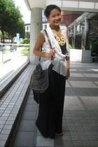 black Mango accessories - beige Topshop accessories - gold Charles & Keith shoes