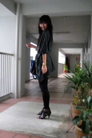 coat - Mango leggings - mphosis shoes - casio accessories - Mango top - accessor