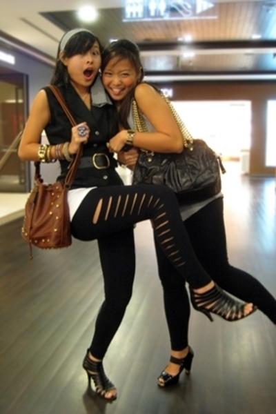 vest - cotton on leggings - accessories - mphosis shoes