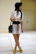 Miss Selfridges blouse - f21 skirt - Schu shoes - Mango accessories - cotton on