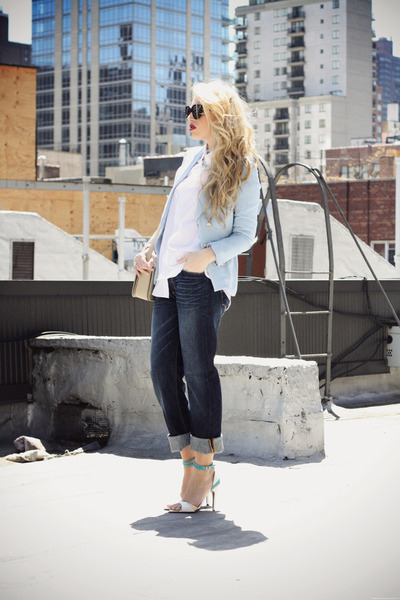 Light Blue OASAP Blazers, Navy Levis Jeans, Beige YSL Bags | \u0026quot;On ...