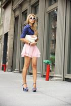 navy Bakers heels - white VJ Style bag - bubble gum VJ Style shorts