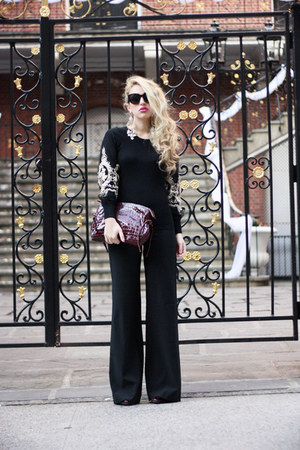 brick red Jennifer Haile bag - black Laltramoda pants