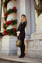 black Chicwish dress - black Valentino bag - black sarenza heels