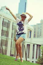 Pull & Bear shirt - H&M hat - Pull & Bear shorts