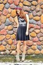 dark khaki leopard print Asian Vogue boots - black animal print aupiecom dress