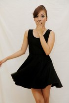 black cutout Mizar Clothing dress