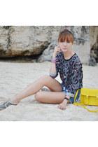 Tutum shoes - Basic Bags Manila bag - pinkaholic shorts - holic bracelet