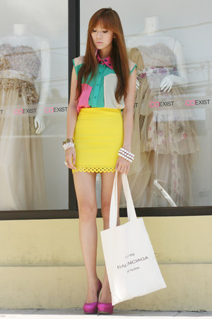 fashion avenue skirt - Call it Spring shoes - Maris bag - Yhansy ring