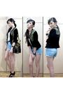 Vivienne-tam-purse-topshop-shirt-topshop-shorts-h-m-belt-aldo-accessorie