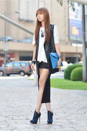 EMODA vest - Love Jane skirt - EMODA blouse - Nicholas Kirkwood heels