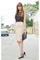 Skinnybe skirt - Love Eyecandy bag - Yhansy necklace - Extreme finds bracelet