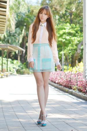 Vantan Manila skirt - Sugarfree heels - Vantan Manila blouse - StyleRocks ring