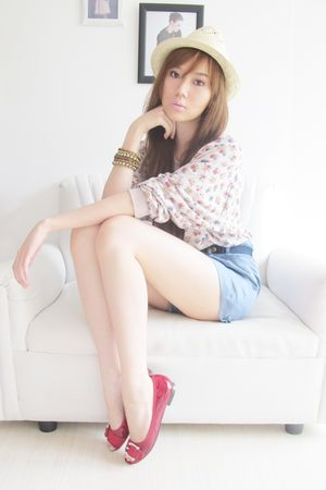 fedora Topman hat - Michael Kors shoes - Japan sweater - Topshop shorts
