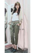 Topshop cardigan - Forever 21 top - Zara pants - Korean clogs