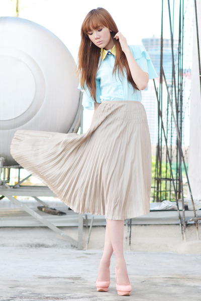 Thread Manila skirt - Korea Rose blouse - Miss Sartorial accessories