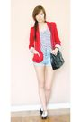 Zara-blazer-new-look-top-topshop-shorts-shoeology-shoes-chanel-bag-fur