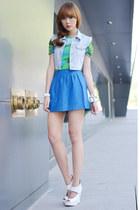 worn as top versace x h&m dress