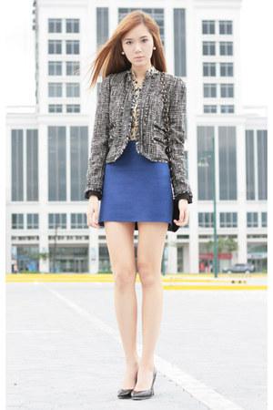 Mango jacket - Mango bag - Mango skirt - Mango heels - Mango blouse
