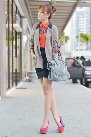 She Inside blazer - Surco blouse - CMG heels