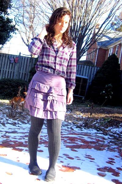 f1f637015f purple Target shirt - light purple Forever 21 skirt - charcoal gray Target  stock