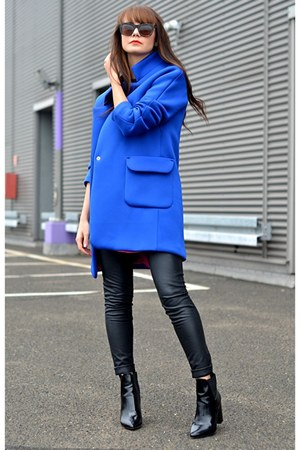 neoprene coat - navy coat