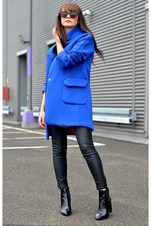 neoprene coat - navy coat