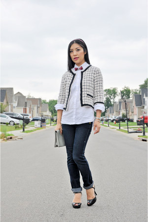 Alannah Hill jacket - Bettina Liano jeans - Gap shirt