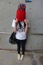 Comme des Garcons t-shirt - BDG jeans - Zara accessories - Converse shoes