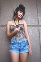 beige intimate - blue shorts - black Mokoyacom accessories