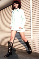 Uniqlo hat - coat - dress - Cherie Cherie boots