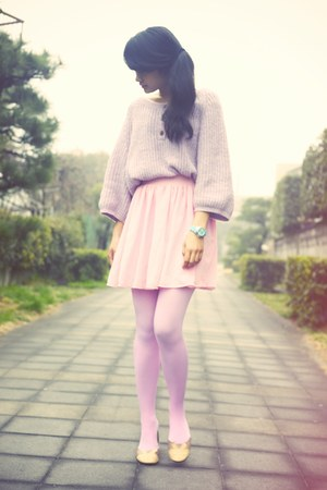 light pink chiffon American Apparel skirt