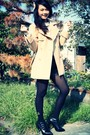 Beige-michel-klein-coat-cream-american-apparel-dress-black-uniqlo-shorts-b