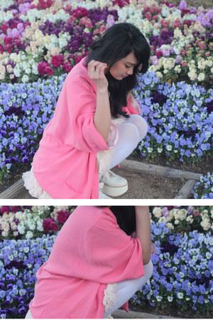 bubble gum Zara blazer - ivory Tokyo Bopper shoes