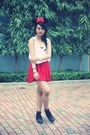 Black-topshop-boots-red-american-apparel-skirt-periwinkle-i-forgot-blouse