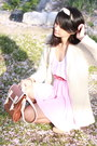 Cream-twisted-scarf-american-apparel-scarf-brown-satchel-from-japan-bag-neut