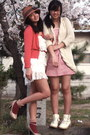 Pink-club-couture-dress-magenta-american-apparel-socks-cream-forever21-cardi