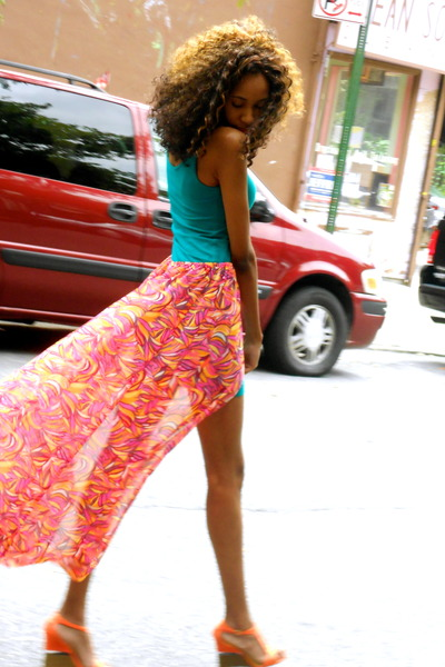 tealbodycon H&M dress - H&M skirt