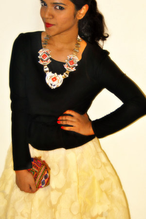 creo dress - Zara shoes - creo bag - creo necklace