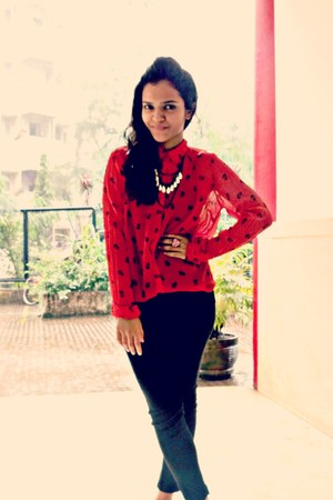 Only shirt - ne&na shoes - Zara pants - wholesaledress-net ring