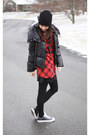 Black-beanie-h-m-hat-red-plaid-h-m-shirt-black-leather-converse-sneakers