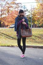 brown plaid Burberry purse - dark brown Bianco sunglasses