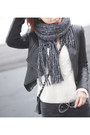 Black-studded-nine-west-boots-off-white-knit-h-m-sweater-black-zara-bag
