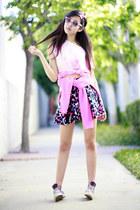 light pink O3eyewear sunglasses