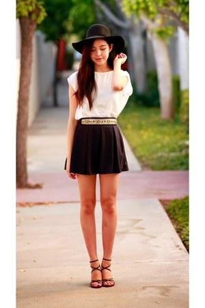black OASAP hat - navy OASAP skirt
