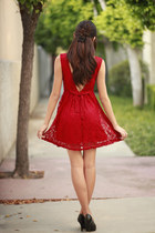 red Forever 21 dress